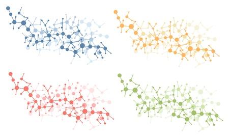 Illustration pour color molecule connection vector - image libre de droit