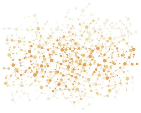Illustration pour molecule connection background  - image libre de droit
