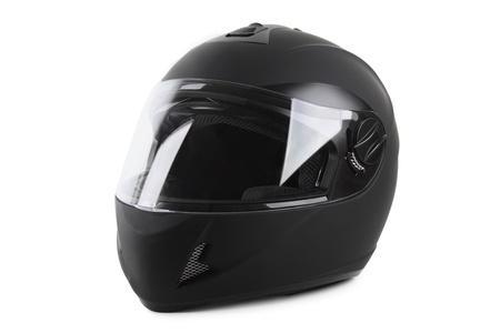 Photo pour black motorcycle helmet isolated - image libre de droit