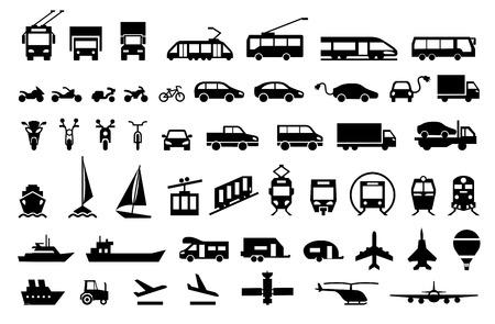 Illustration pour Large transport icons set. flat symbols vector illustration - image libre de droit