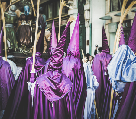 Photo for Procession during the Holy Week in Zamora, Spain. - Royalty Free Image