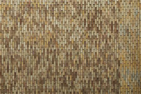 Photo pour A detail picture of the ceramic tiling on the old brutalist communist building. - image libre de droit