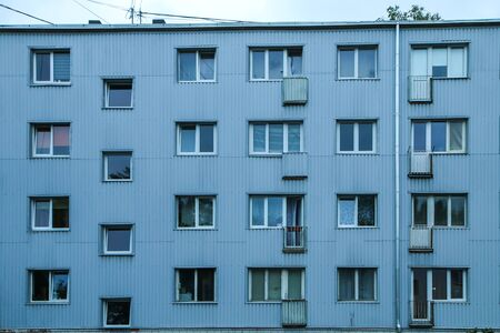 Photo pour The old block of flats building from soviet era in Riga in Latvia. - image libre de droit
