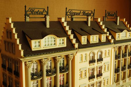 Hotel and Grand Hotel as Miniature Model