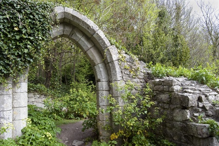 ancient English arch in a park