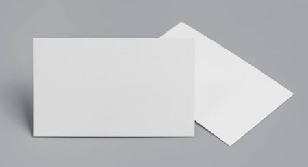 blank business cards on grey background,texte & logo