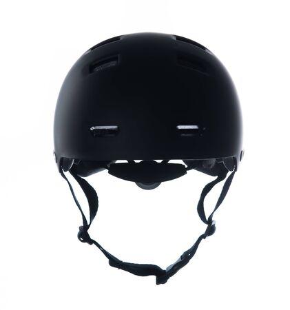 Photo pour Black skater helmet isolated on white background - image libre de droit