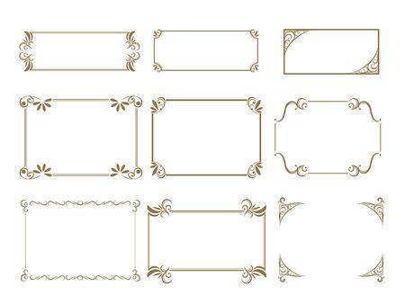 Illustration pour Decorative line material set - image libre de droit