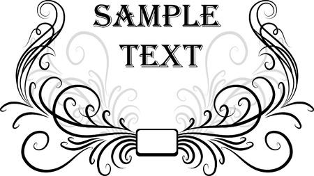 Illustration for Elegant texts frames.  - Royalty Free Image