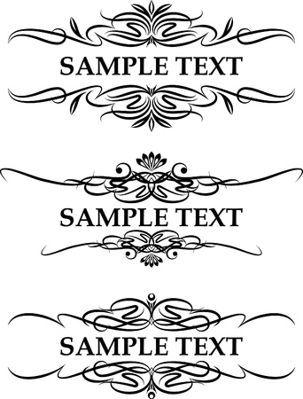set of three elegant text frame