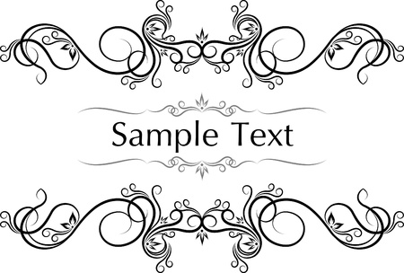 Vector vintage frames for text.