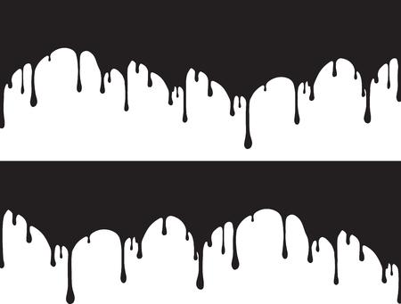 Black paint drips Vector illustration