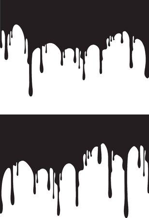Illustration pour Pair of black paint drips. Vector illustration for your design. - image libre de droit