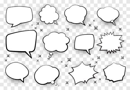 Illustration pour Set of comic style speech bubbles for your design. Vector illustration. - image libre de droit