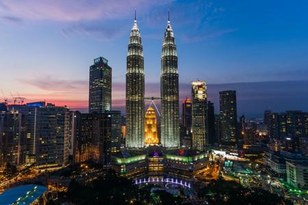 twin towers aka petronas towers in kuala lumpur malaysia