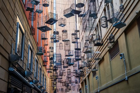 Photo for Bird Cage Alley in Sydney, Australia - Royalty Free Image