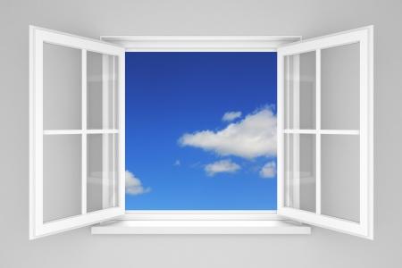 Foto de Open window at the blue sky - Imagen libre de derechos