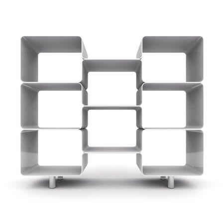 Empty shelves for your content.  3d illustration
