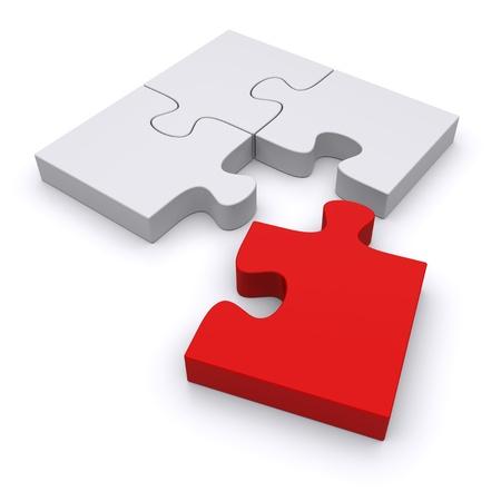 Photo pour Jigsaw puzzle on a white background. 3d image - image libre de droit