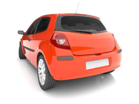 Photo for Isolated red car. 3d image - Royalty Free Image