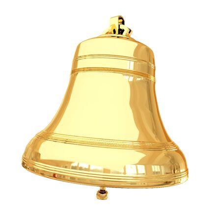Foto für Isolated 3d shiny golden bell - Lizenzfreies Bild