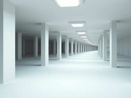 Architecture background. Underground garage.