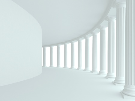 Abstract architecture. 3d rendered image