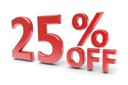 25 percent sale discount  3d image