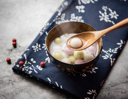 Photo for Traditional chinese Glutinous Rice Balls - Royalty Free Image