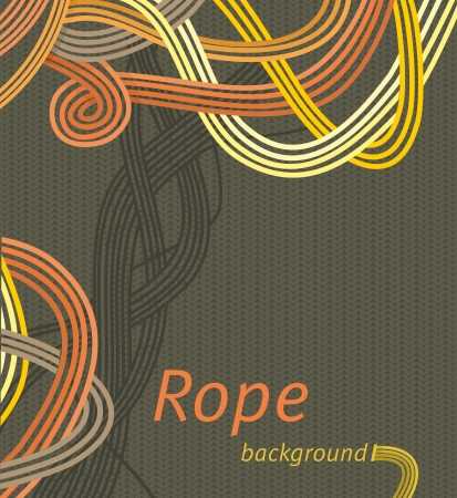 Vector line background design  interweaving strands background  braided rope