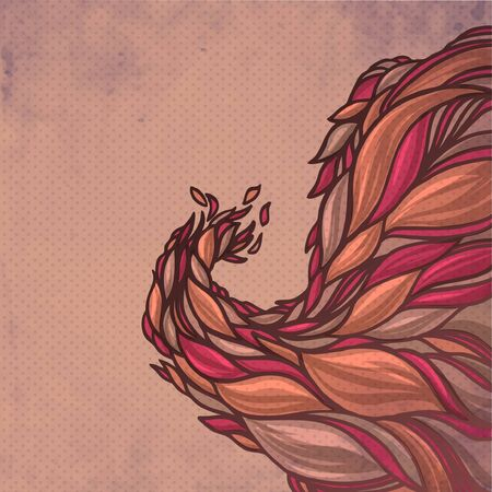 colorful abstract hand-drawn spring pattern, waves decorative background