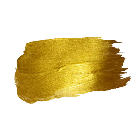 Illustration for Gold Shining Paint Stain Hand Drawn Illustration - Royalty Free Image