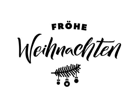 Merry Christmas German Calligraphy