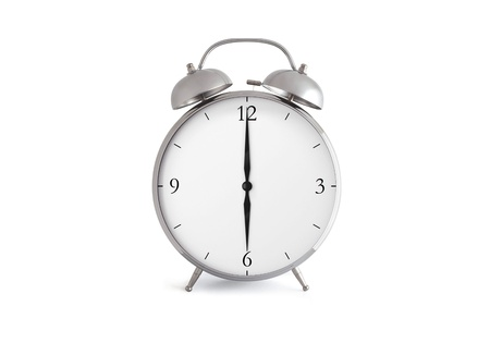 Alarm clock isolated on a white background