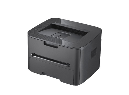 Laser printer on the white background