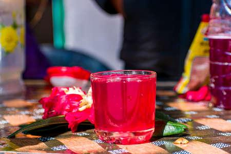 Photo pour An indian Juice of a flower with selective focus. - image libre de droit