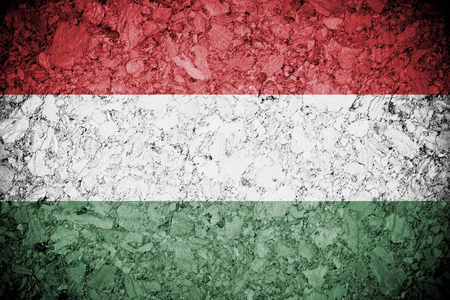 Grung of Hungary or Hungarian banner on wooden background