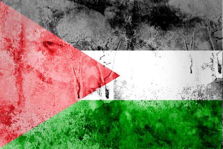 Grunge Palestine Flag