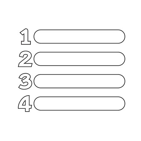 Number List Icon Sign