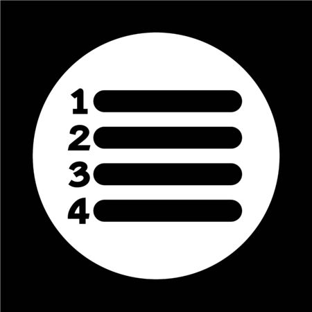 list icon sign