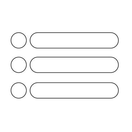 Bulleted list icon vector illustration