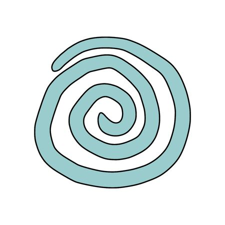 Spiral, drawn by hand. Vector drawing with editable