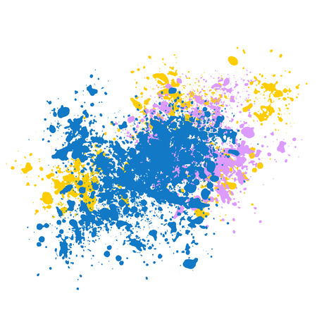 Illustration for Vector texture, lots of shards of different sizes. Blot, paint splashes or pieces of chalk. - Royalty Free Image
