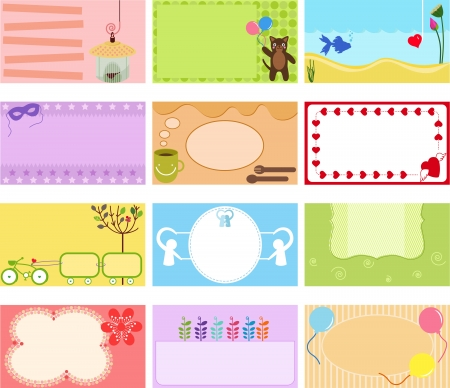 A Cute Collection of Vector Label   Card   Name card   Tag in pastel colors