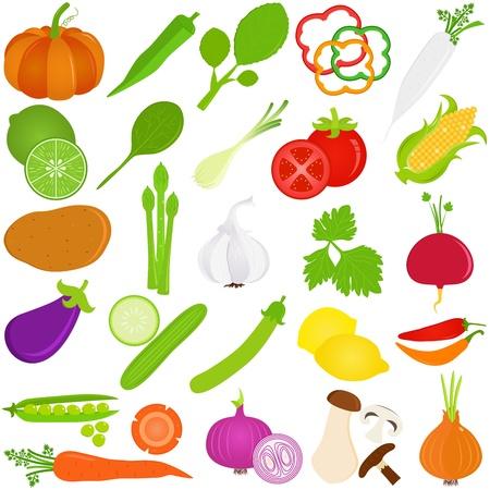 Foto für Colorful Food vector Icons    Fruit and vegetables - Lizenzfreies Bild