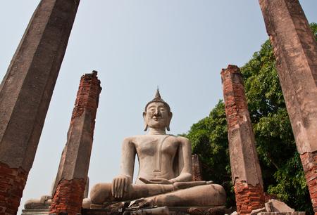 Old buddha Status at Chai Nat, Thailand