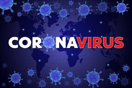 Virus epidemic 2020 vector poster. Coronavirus respiratory disease prevention and awareness. Corona virus pathogen germ background. Medical banner template.
