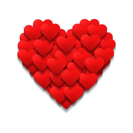 Photo pour Little hearts form a big heart. Valentine's day concept. Vector illustration - image libre de droit
