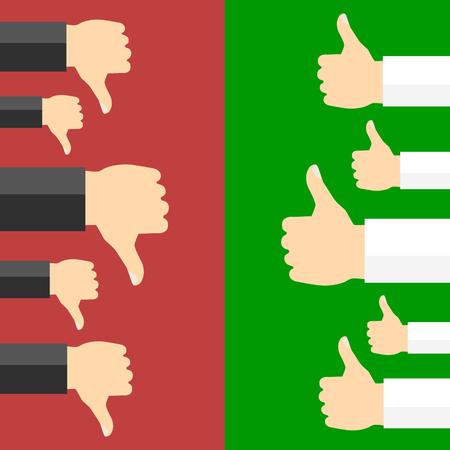 Illustration pour Positive and negative feedback concept. Vector illustration - image libre de droit