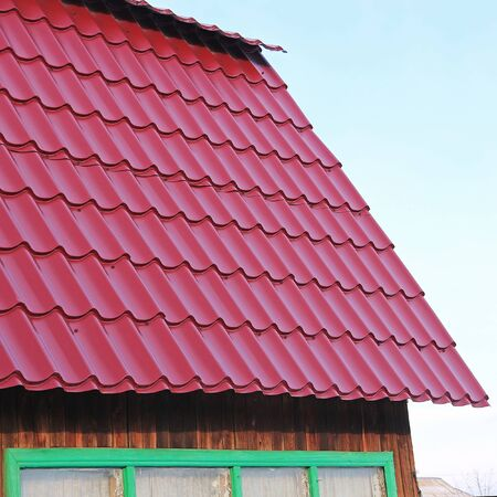The roof is covered with metal tile holiday home
